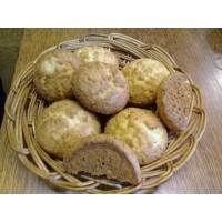 Печенье «мраморное творожное» с кокосовой стружкой